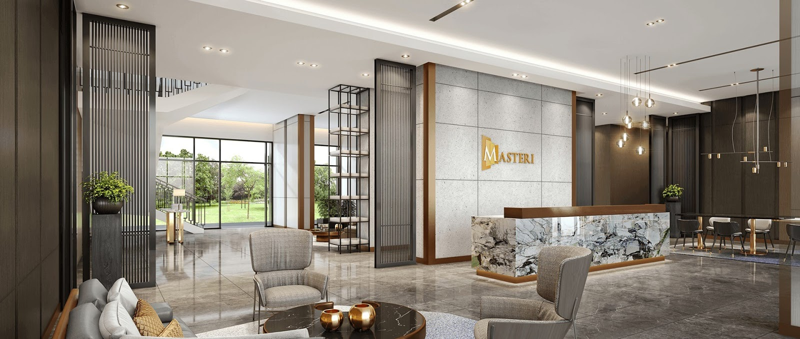 Sảnh Lounge tiêu chuẩn 5 sao tại Masteri Smart City