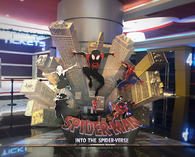 Spiderman's Movie Standee Effectively Draws Customer Attention