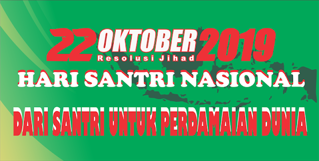 Spanduk Kirab Hari Santri Nasional 2019
