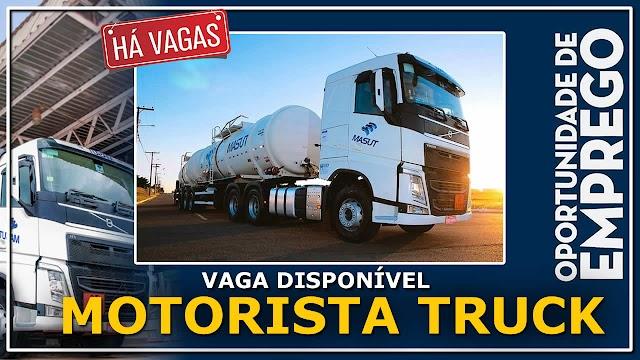 Transportadora Masut abre  35 vagas para Motorista