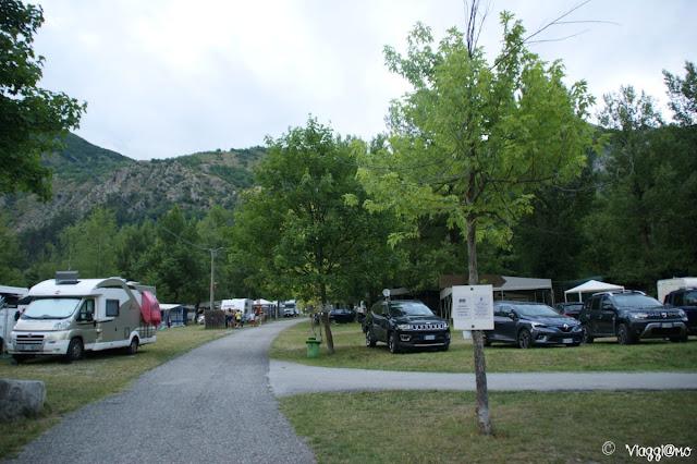 L'interno del Campeggio dei Forti di Vinadio