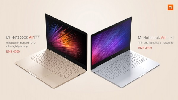 Xiaomi launches its first laptop, the Mi Notebook Air