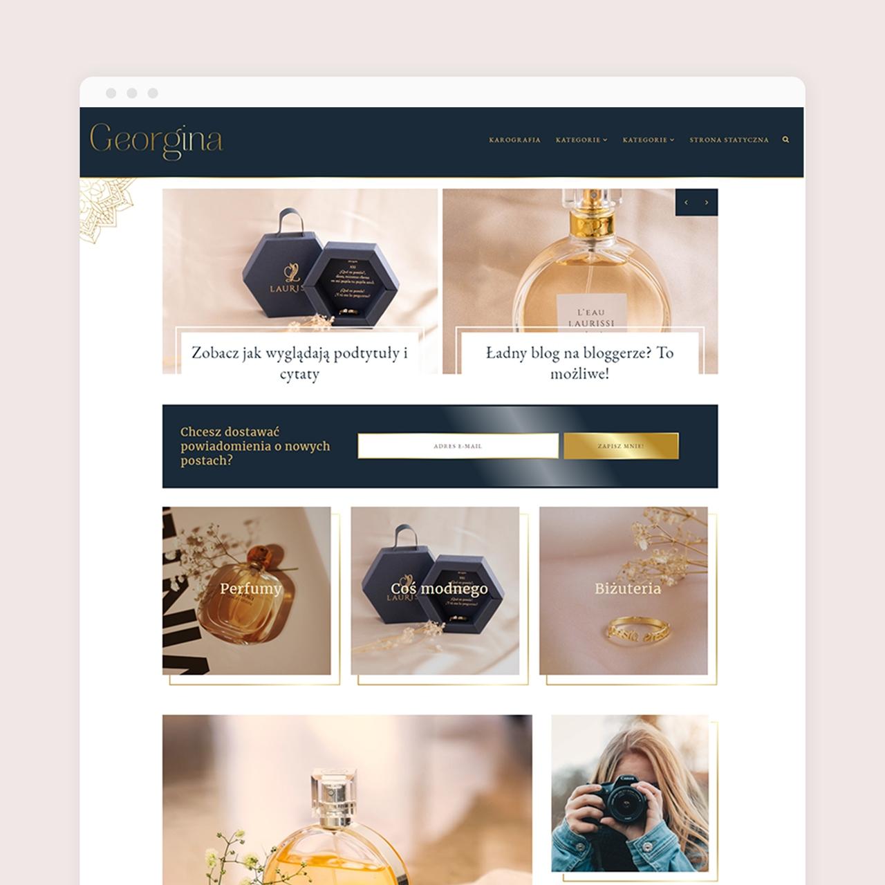 Szablon na bloggera Georgina Premium