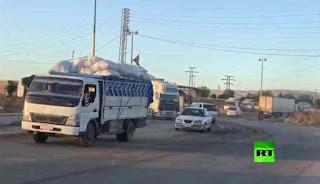 Puluhan Truk As Memasuki Suriah Tuk Perluas Pangkalan Militer