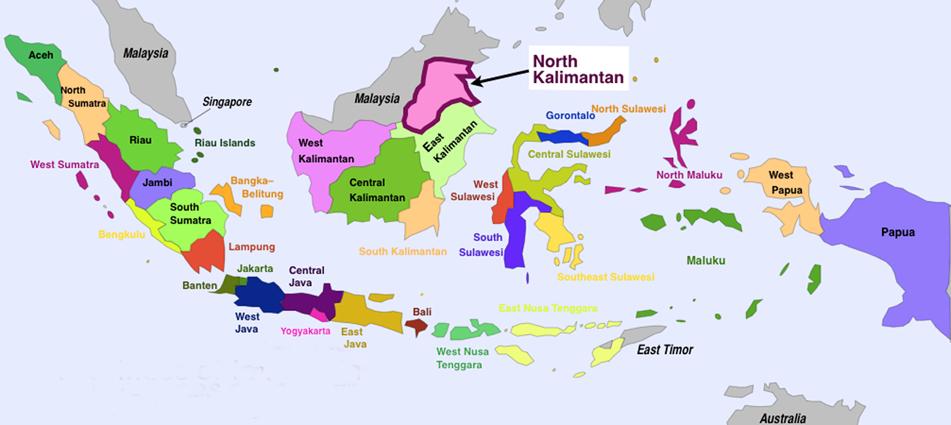 34 Provinsi Indonesia Ibukota Lengkap Peta Sejarah Tabel Gambar Sketsa