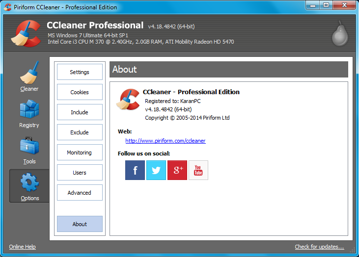 Download CCleaner 4.18.4842 Profesional,Business, Technician Edition Full Crack