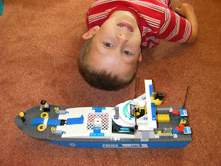 lego police launch boat kit