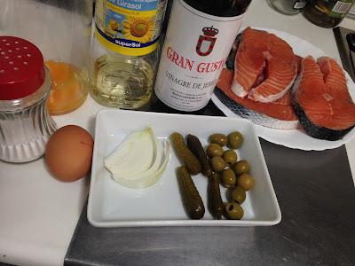 Salmón con salsa Tártara, ingredientes