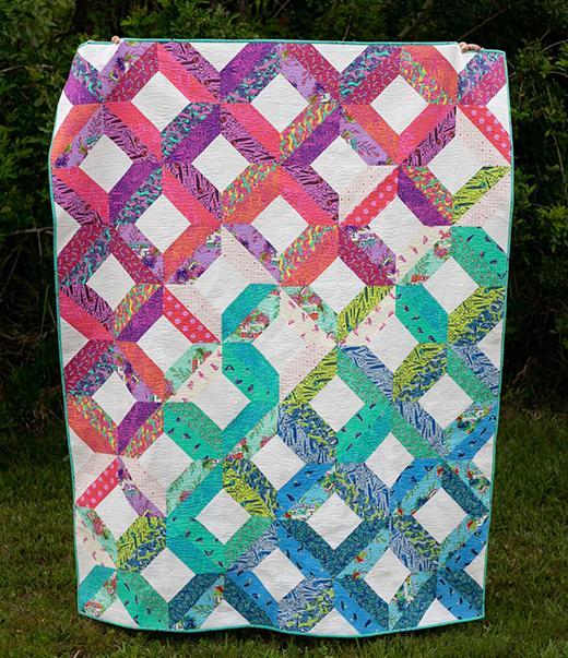 Fat Quarter Fancy II Quilt designed by Caroline of SewCanShe