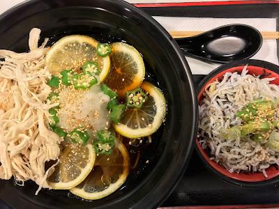 Healthy Soba IKI, lemon soba shirasu avocado don