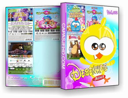 DVD COLEÇÃO DESENHO 3X1 VOL 102 - ISO