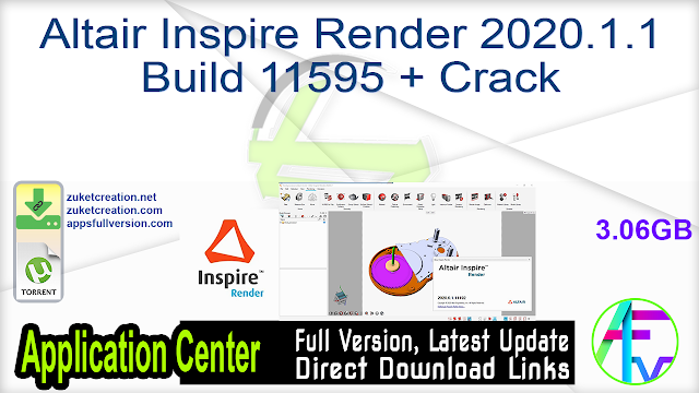 Altair Inspire Render 2020.1.1 Build 11595 + Crack