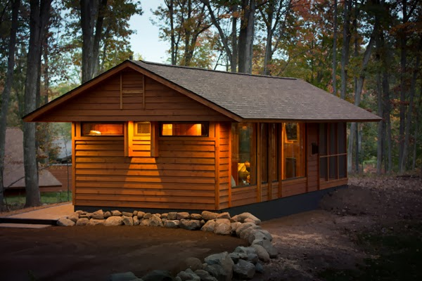 "This ""cabin"" is only 400 square feet, which doesn't sound like much. - This Looks Like A Charming Little Cabin. And It Is… But It's So Much More Than That. Trust Me."