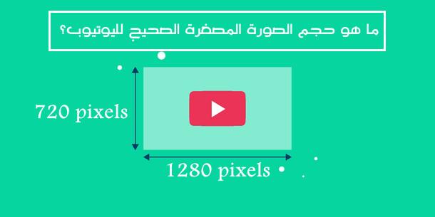 ما هو حجم الصورة المصغرة الصحيح لليوتيوب؟
