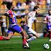 Bruno Henrique marca por três vezes e Santos vence Bahia no lotado Pacaembu