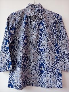 baju pakaian seragam batik identitas seragam lengan panjang baju batik pakaian batik identitas dari rakhma konveksi