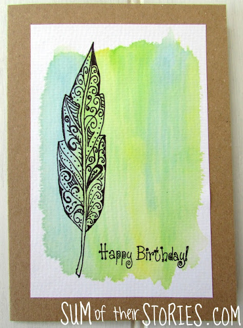 fake Watercolour and zentangle cards