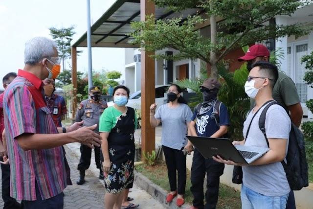 Ganjar Cek Kesiapan Kampung Siaga Covid-19 di Kedungdowo Kudus