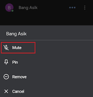 how to mute someone on google meet