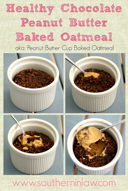 Vegan Chocolate Peanut Butter Baked Oatmeal Recipe - Gluten Free, Healthy, Sugar Free