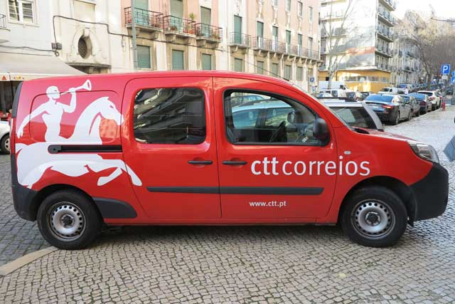 Post van in Lisbon
