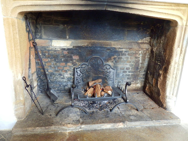 Old fireplae at Trerice,