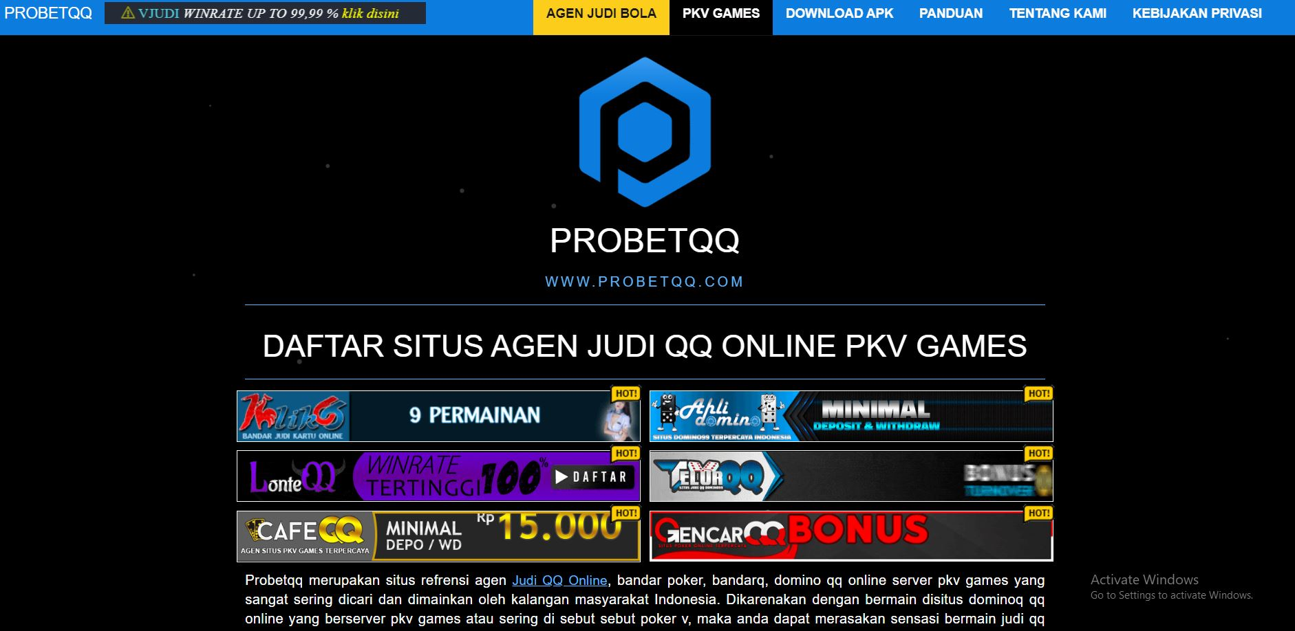 ProbetQQ Situs Review Judi BandarQ DominoQQ Online Pkv Games