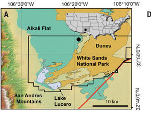 Fossil impressions show people in North America over 21,000 years prior