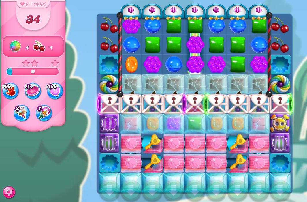 Candy Crush Saga level 9522