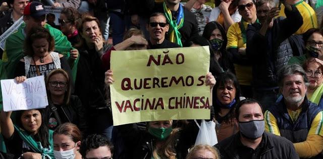 Tolak Vaksin Sinovac Asal China, Warga Brasil: Kami Bukan Kelinci Percobaan