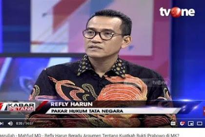 Tak Yakin Prabowo Menang Sengketa, Refly Harun Sebut Tim 02 Ada Harapan jika Ini Terjadi