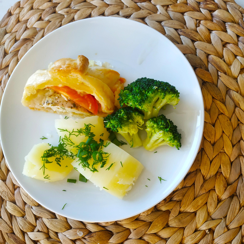 Filet z kurczaka w cieście francuskim