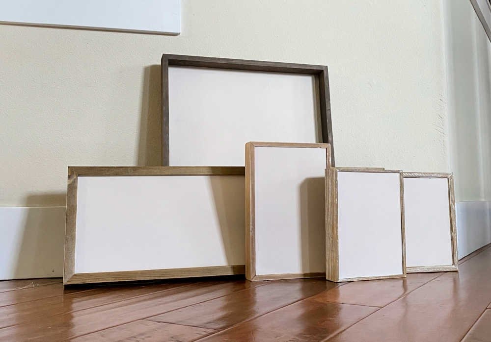 paint art frames and reuse them