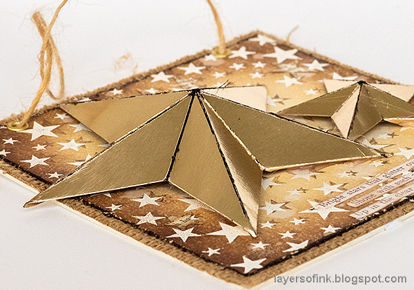 Layers of ink - Star Panel Tutorial by Anna-Karin Evaldsson. DIY gold stars.