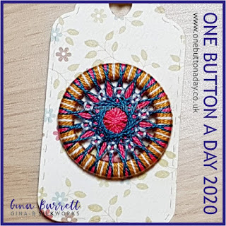 Day 322 : Mandala VII - One Button a Day 2020 by Gina Barrett