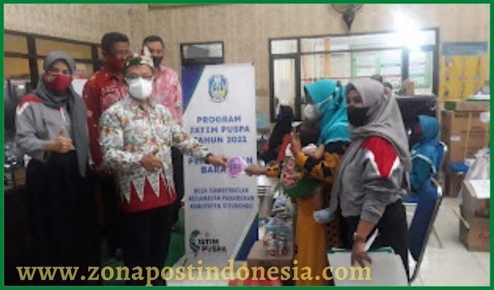 Dinas Sosial Kabupaten Situbondo, Salurkan Program Bantuan Jawa Timur Pemberdayaan Usaha Perempuan (Jatim Puspa) Kepada 34 KPM (Keluarga Penerima Manfaat) Warga Desa Sumberkolak