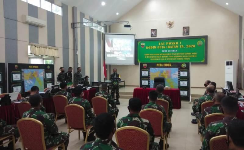 Kolonel Inf Juniras Lumban Toruan, Tutup Latihan Posko I Kodim 0316/Batam