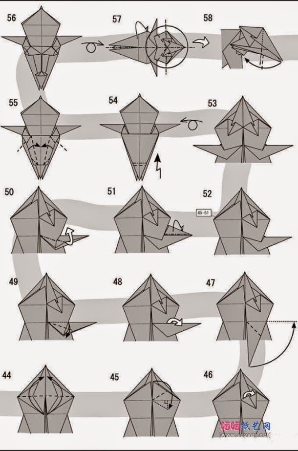 Help with this origami lion. I cannot find the diagram : origami | 923x610