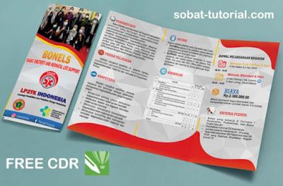 Download Template Brosur Lipat 3 Cdr Gratis