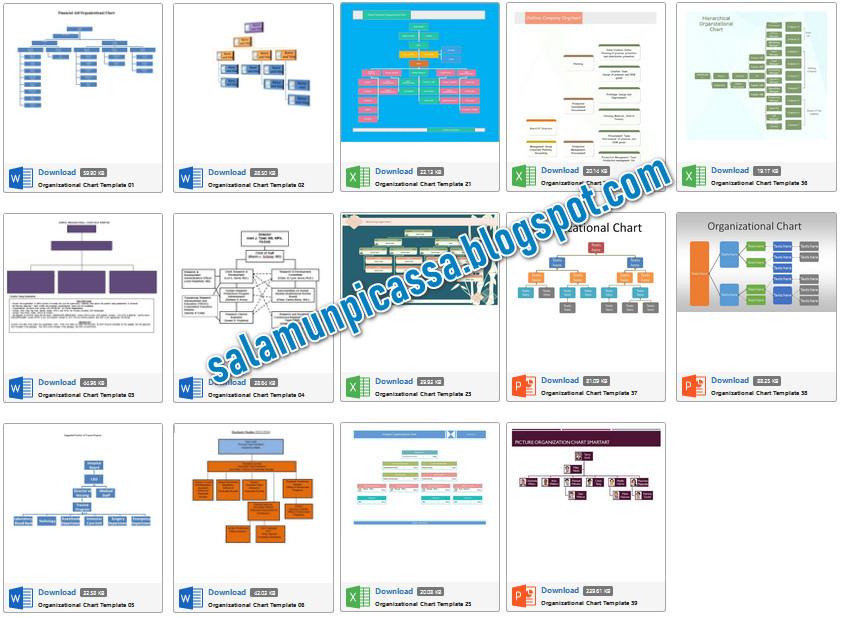 150 Template Bagan Struktur Organisasi Word Excel Dan Powerpoint Salamun Picassa