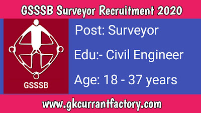 GSSSB Surveyor Recruitment, GSSSB Recruitment