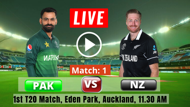 NZ vs PAK 1st T20 : New Zealand vs Pakistan T20 Series 2020-2021, Pakistan have won the toss and have opted to bat