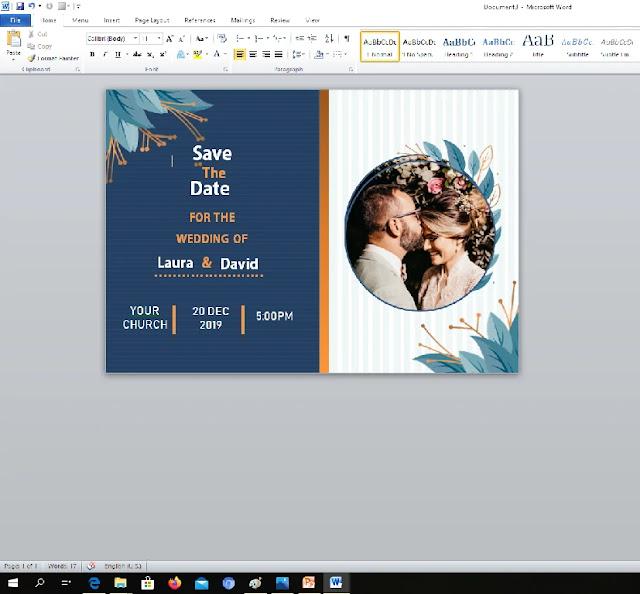 cara membuat undangan pernikahan menggunakan word