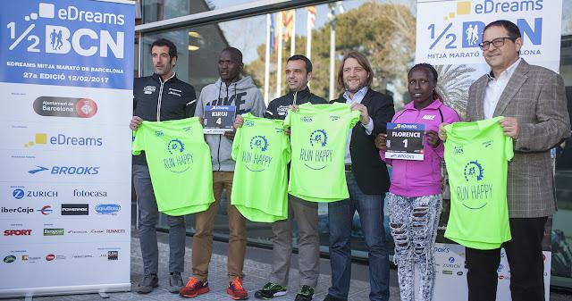 Presentación eDreams Mitja Marató Barcelona 2017