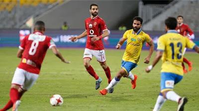 التشكيل الرسمي للفريقين الاهلي والاسماعيلي بـ الدوري المصري