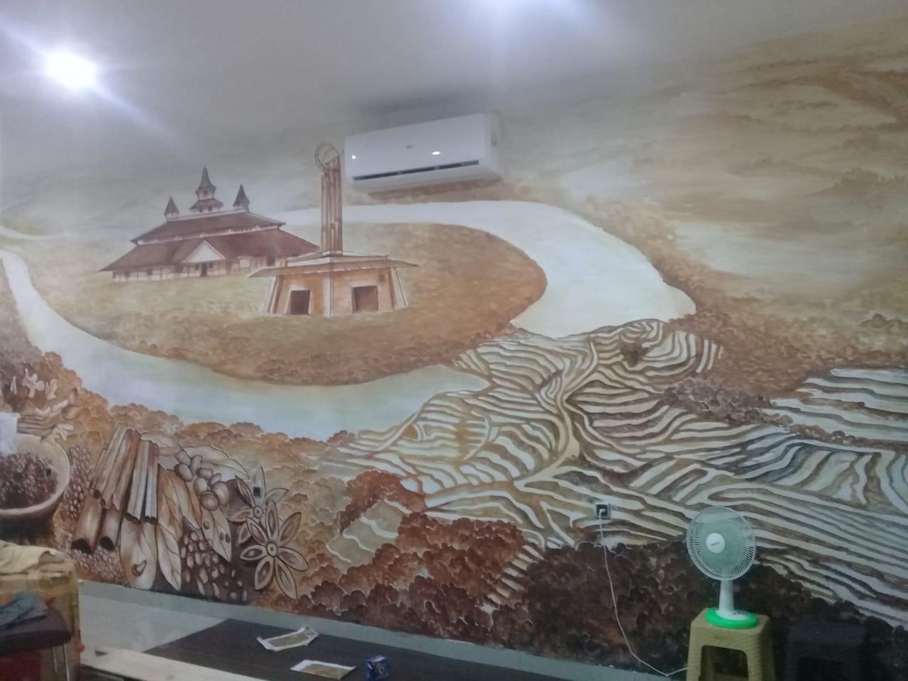 Seni Lukisan Mural Cafe Di Indonesia