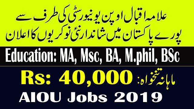 AIOU Jobs March 2019