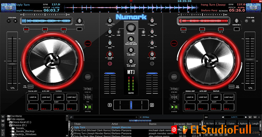 Skin para Virtual DJ 8 Numark Mixtrack Pro 3 - JavierMix - Visual