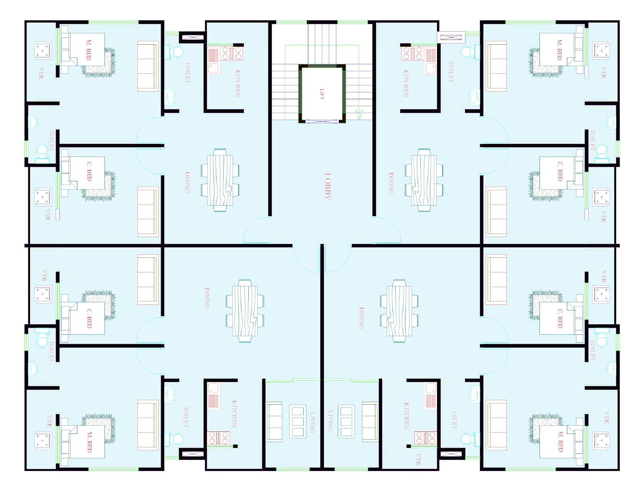4000 Sq ft first floor plan