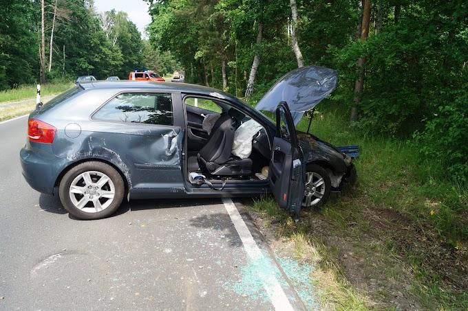 Audi überschlägt sich auf der K2037 bei Burgkemnitz